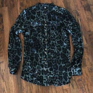 W by Worth animal print blouse